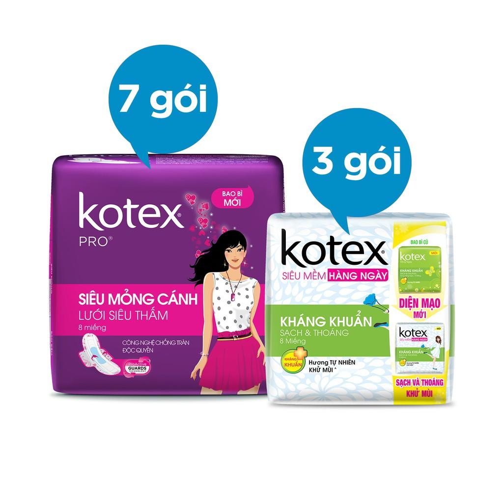 Bộ 10 gói Kotex ( 7 x Kotex Pro, 3 x Kotex Liner KK) - 3520333 , 698954265 , 322_698954265 , 152500 , Bo-10-goi-Kotex-7-x-Kotex-Pro-3-x-Kotex-Liner-KK-322_698954265 , shopee.vn , Bộ 10 gói Kotex ( 7 x Kotex Pro, 3 x Kotex Liner KK)