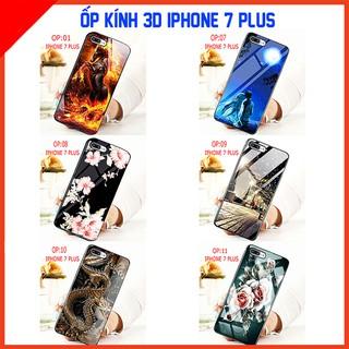 Ốp lưng kính 3D IPHONE 7 PLUS, anh thật sản phẩm , quý khách vui lòng xem video ạ thumbnail