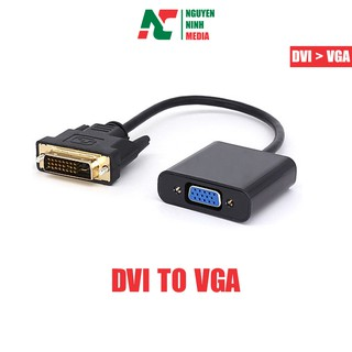 [Mã ELFLASH5 giảm 20K đơn 50K] Dây Cáp Chuyển Đổi DVI-D To VGA Adapter Dài 20cm
