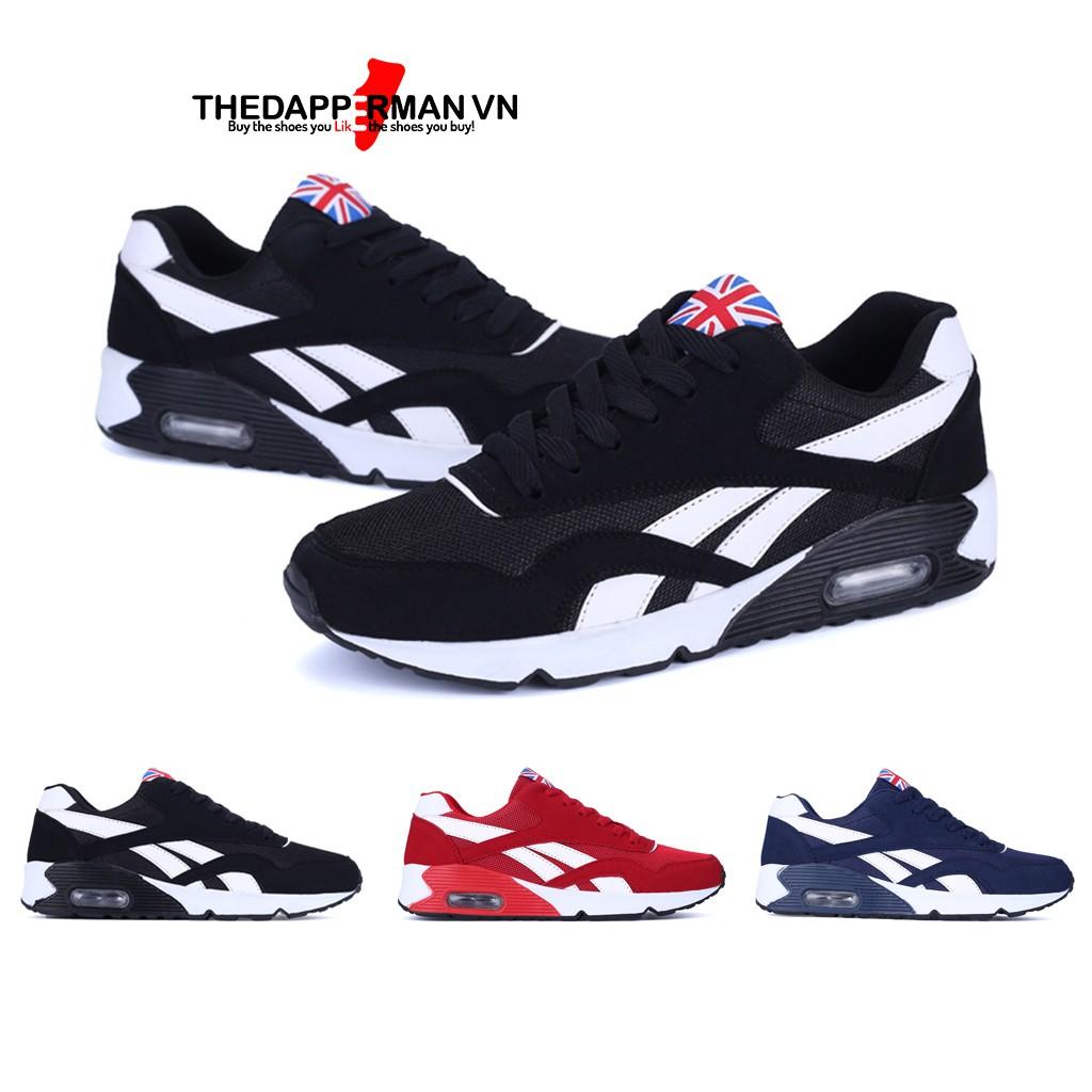 Giày sneaker thể thao nam THEDAPPERMAN TDM861 chất liệu vải kết hợp da lộn, đế cao su ma sát tốt,phù hợp chạy bộ,màu đen