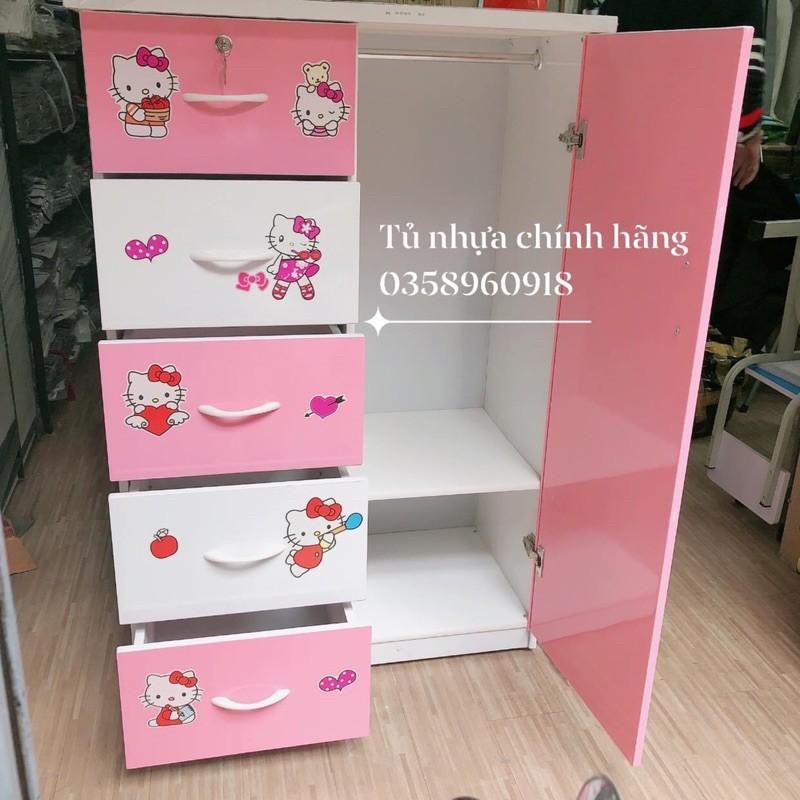 Tủ Nhựa Đài Loan Trẻ Em 5N1C Tiện Lợi Chịu Lực Tốt Tủ Đựng Quần Áo Dành Cho Bé Trai Bé Gái
