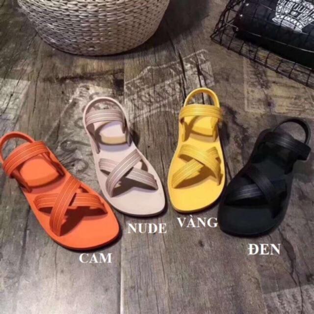 Dép Nữ Sandal Nhựa Nhiều Màu - Ảnh Thật- Video