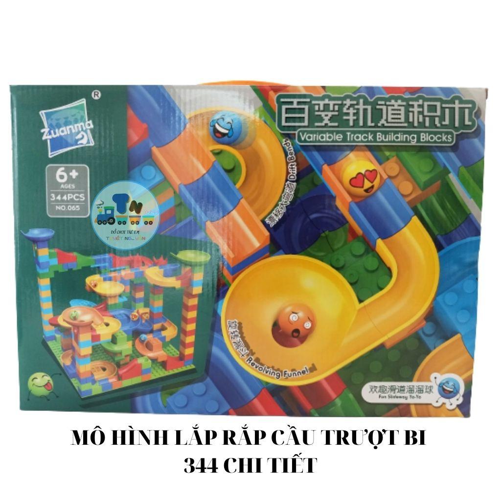 ĐỒ CHƠI LEGO LẮP RÁP MÔ HÌNH CẦU TRƯỢT THẢ BI 344 CHI TIẾT