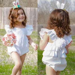 ღstar✯Comfortable Newborn Kids Baby Girls Lace Flower Romper Bodysuit Jumpsuit Outfits Clothes Set