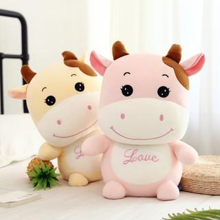 Thú Nhồi Bông Hình Bò Sữa Dễ Thương Cho Nữ