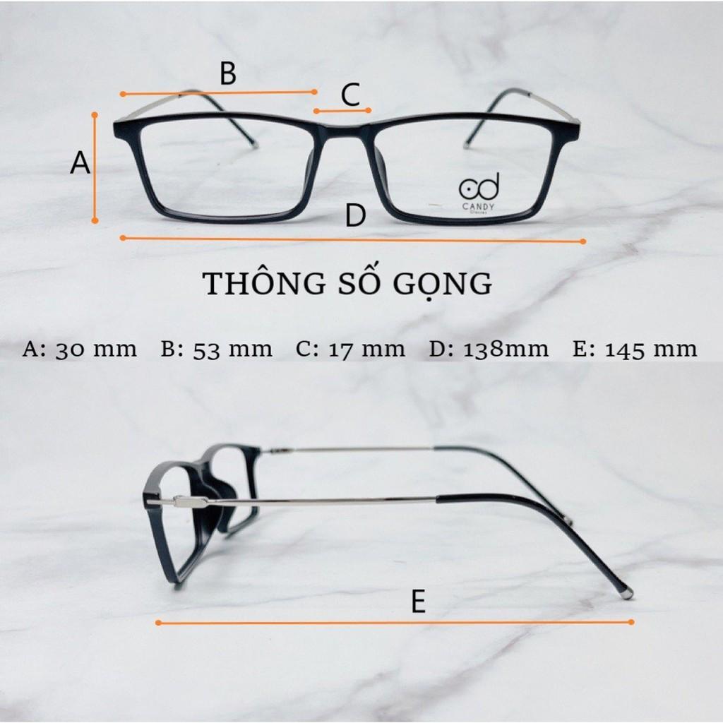 Gọng kính cận vuông cao cấp nam nữ V1220 - Tiệm kính Candy