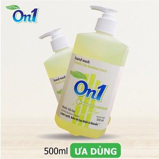 Nước rửa tay sạch khuẩn On1 500ml hương BamBoo Charcoal - RT504-3