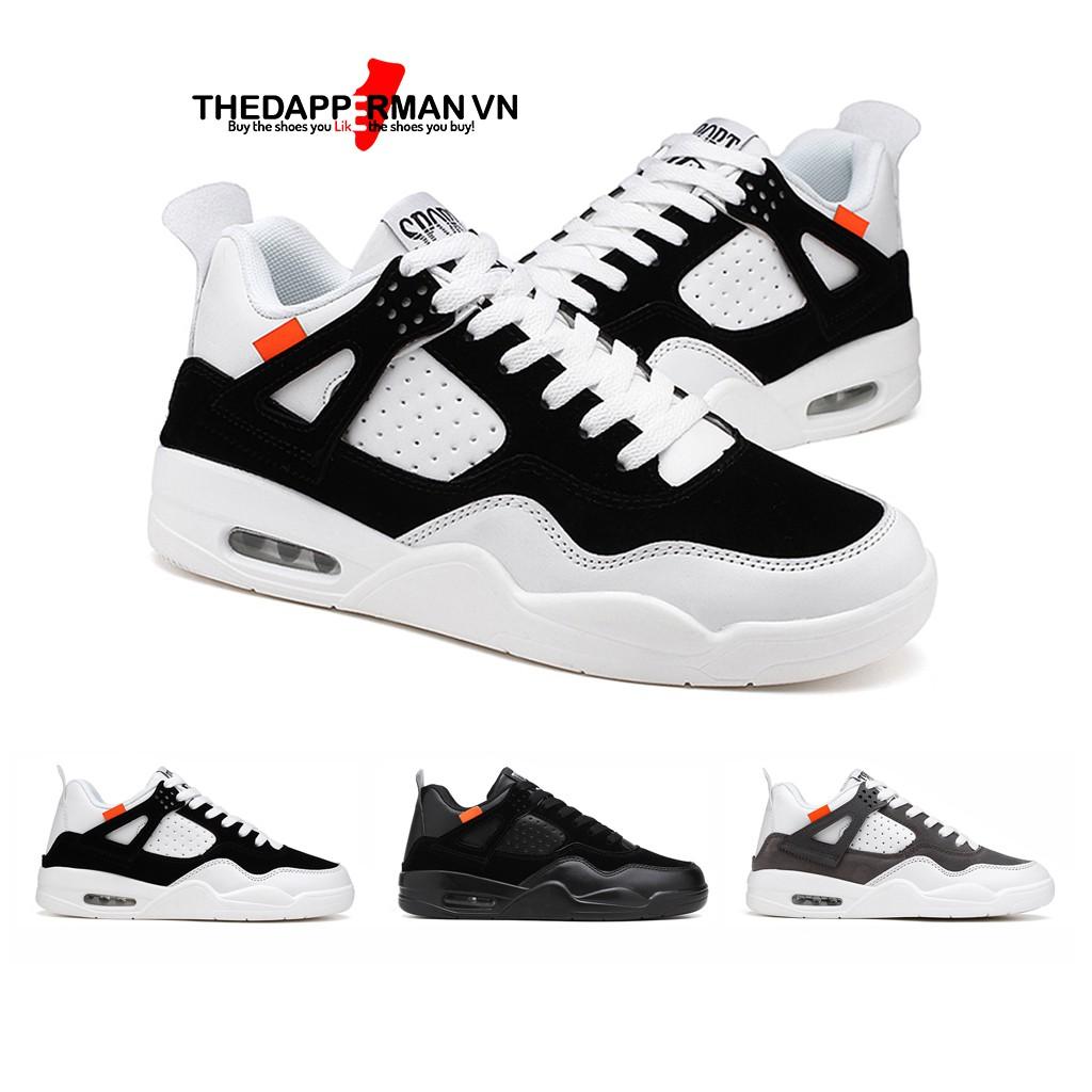 Giày nam thể thao sneaker THEDAPPERMAN TDM194 chất liệu da lộn, đế air cao su nhiệt dẻo, siêu êm, siêu bền,màu trắng đen