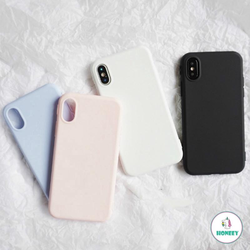 Ốp lưng TPU mềm hình bánh Macaron cgi IPhone 6 6s 7 8 Plus X XS Max XR