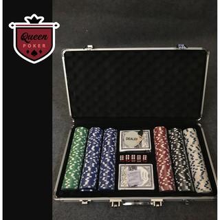 Bộ 300 phỉnh poker không số (chip poker) hàng nhập khẩu P02