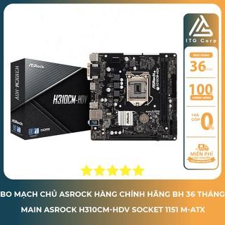 Bo mạch chủ - Mainboard Asrock H310CM HDV - Socket 1151 m-ATX thumbnail