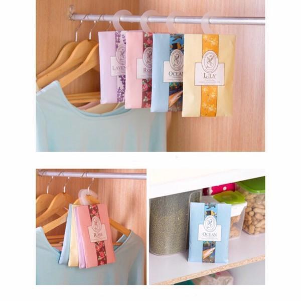 Túi thơm thảo dược để trong quần áo kèm móc treo