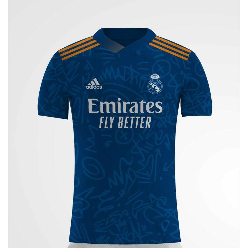 Áo thun Jersey Real Madrid 2021 in hình toàn bộ
