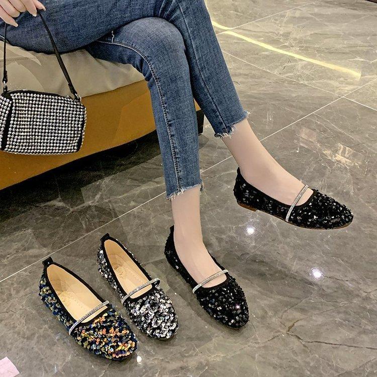 Giày búp bê đế thấp mũi vuông sành điệu dành cho nữ