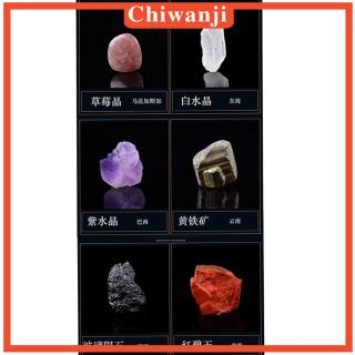 [CHIWANJI] Kids Science Specimens Kit – Rock & Mineral Geology Collection , Pack of 15