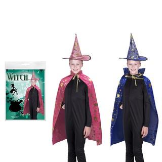 Bộ áo choàng phù thủy kèm nón 2 oại màu Halloween Uncle Bills UH00623-__giá sập kho