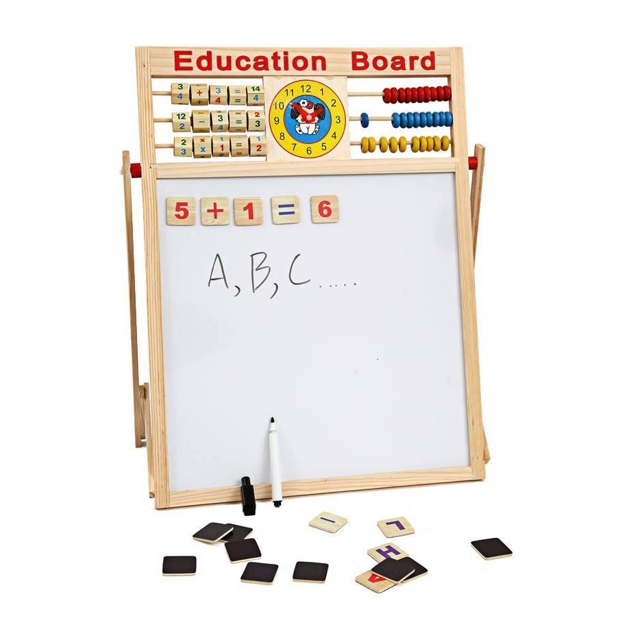 Bảng Học Chữ Cho Bé, Bảng Học 2 Mặt Có Bộ Số Và Chữ Cái Gắn Nam Châm (Education Broad)