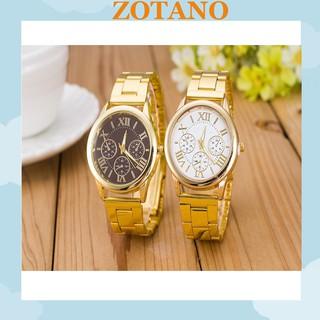 Đồng hồ nam nữ thời trang Geneva lịch lãm cực đẹp DH98; Đồng hồ thời trang nam nữ dây kim loại cao cấp Geneva cực đẹp DH