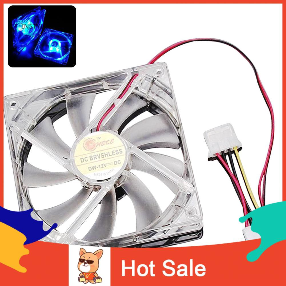 ly 12x12x2.5cm Portable DC 12V Colorful LED 4 Pin Quad Computer Case Cooling Fan