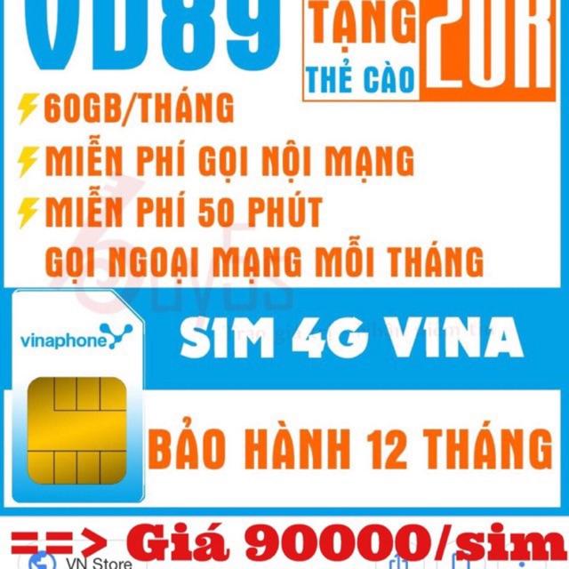 Sim vinaphone 4g  tốc đ