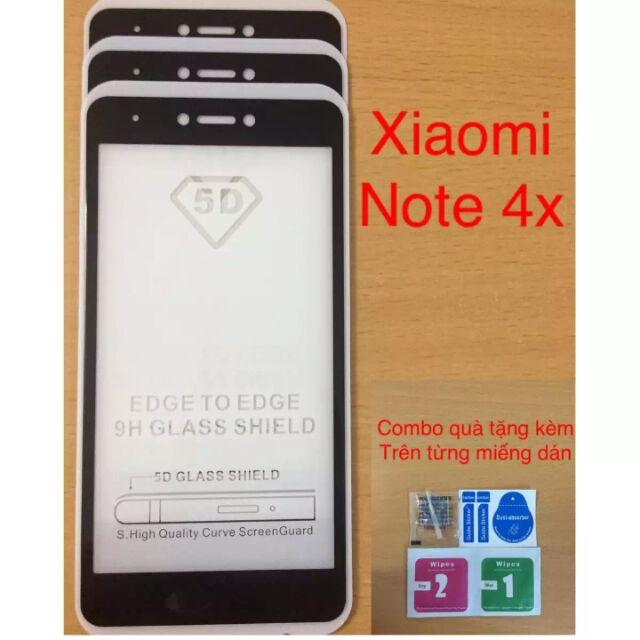 Kính cường lực 5D full màn cho Red mi note 4x