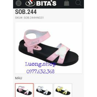 Sandal bitas bé gái SOB244 (size 31-35)