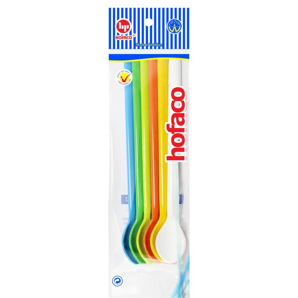 Bộ thìa nhựa can dài Hofaco hàng VN chất lượng cao (6 cái)