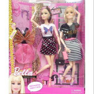 Bộ 2 búp bê Barbie cao cấp kèm phụ kiện