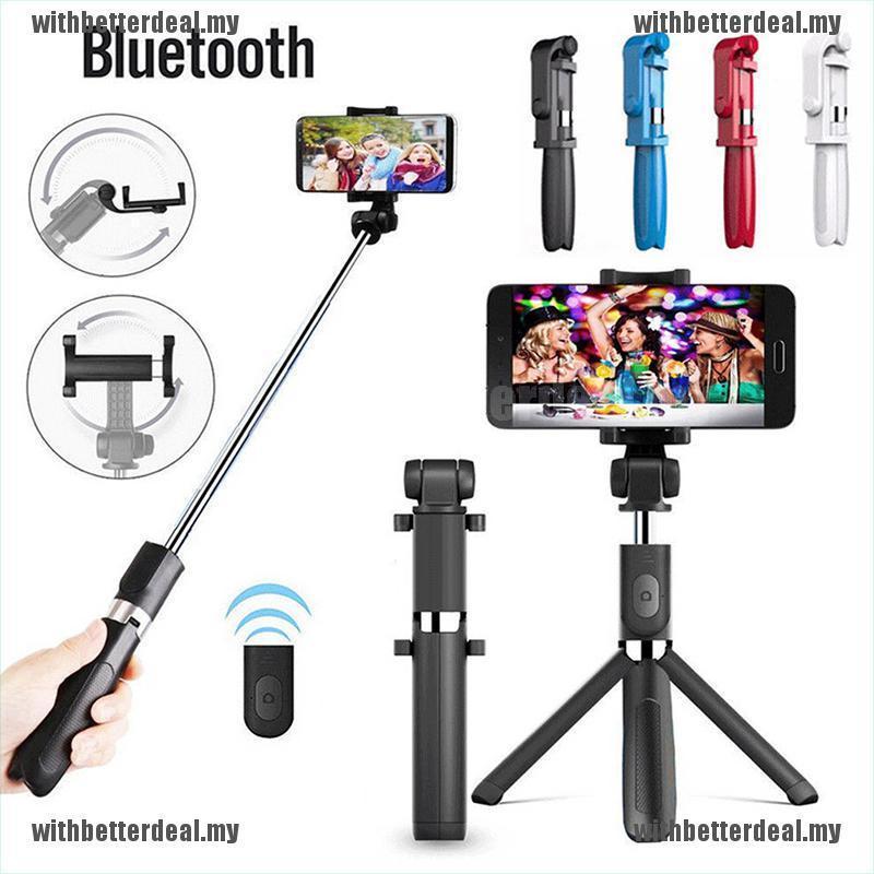 Gậy Chụp Ảnh Tự Sướng Kết Nối Bluetooth Cho Điện Thoại + Remote Bluetooth