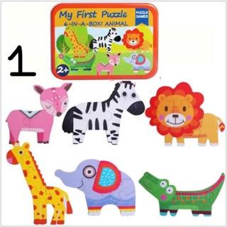 Hộp đồ chơi Puzzle My First 6 in a box bằng gỗ cho bé từ 2 tuổi