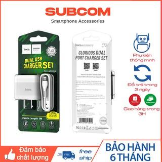 Bộ Chuyển Đổi Sạc C73 Cắm Các Cổng USB Kép 2.4A Được Cài Đặt Bằng Cáp Cho Các Thiết Bị Thích Hợp Mọi Dòng Máy