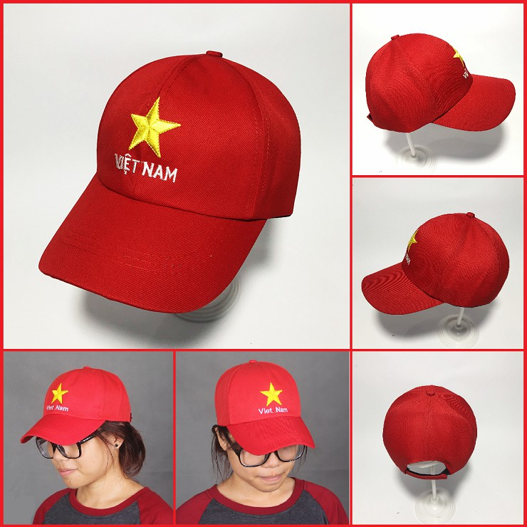Mũ Lưỡi Trai Cờ Đỏ Sao Vàng Việt Nam Cực Đẹp