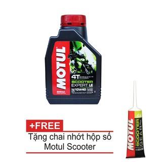 Nhớt Motul Xe Tay Ga Scooter Expert LE 10W40 800ml + Tặng Nhớt hộp số Motul Gear Oil 80W90 thumbnail