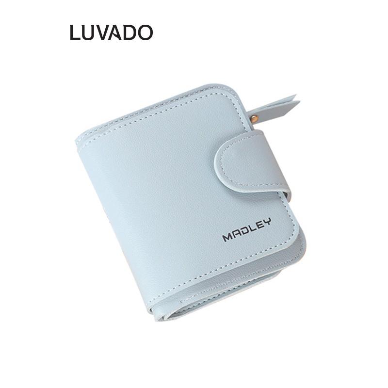 Ví nữ nhỏ ngắn bỏ túi MADLEY nhiều ngăn cao cấp đựng tiền cute dễ thương LUVADO VD396