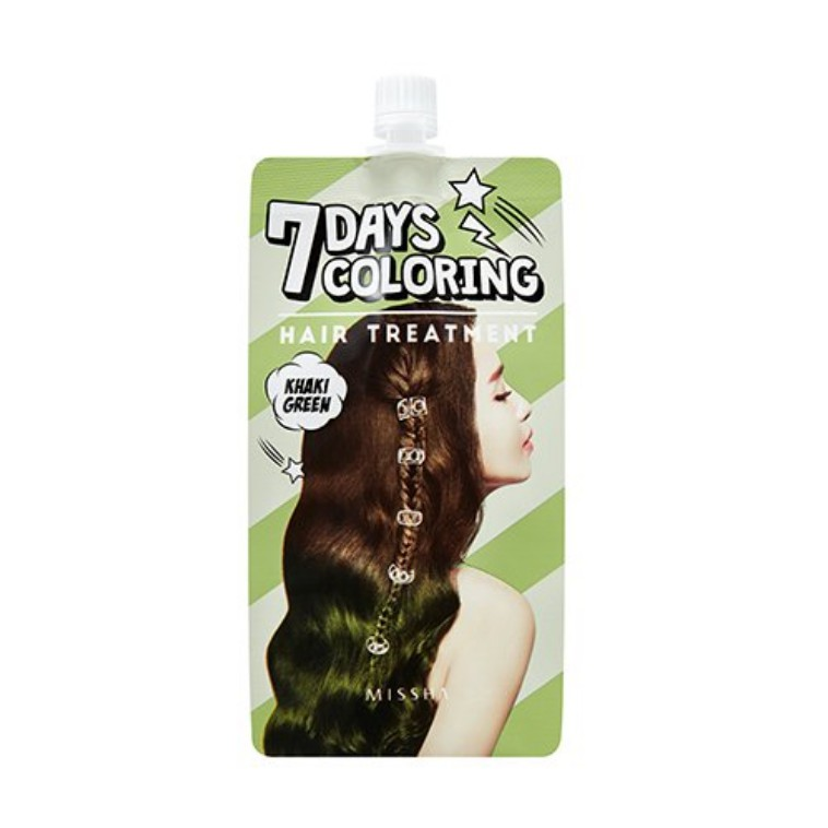 Thuốc nhuộm tóc MISSHA Seven Days Coloring Hair Treatment (Khaki Green) 25 ml