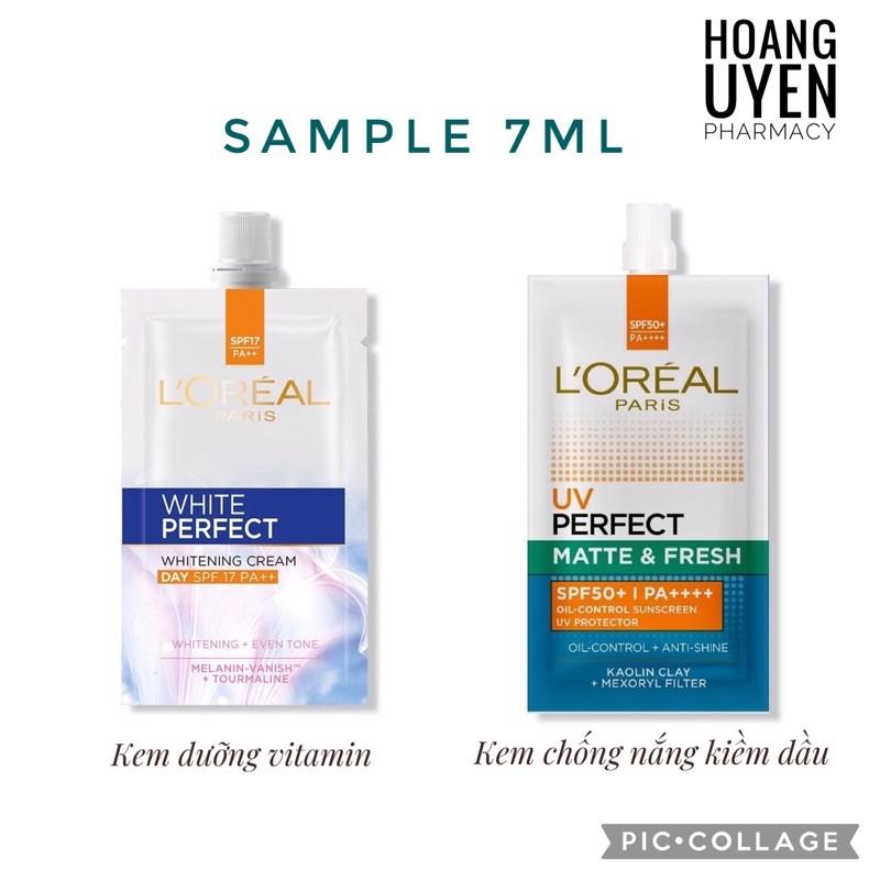 Kem dưỡng vitamin Loreal/ Kem chống nắng kiềm dầu Loreal 7ml - Kem dưỡng vitamin