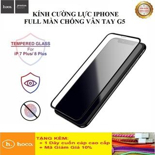 Kính Cường Lực Iphone Full Màn Cao Cấp+Chính Hãng Kính Cường Lực Hoco G5 siêu bền iphone 7 8 7plus 8plus XS XsMax 12 thumbnail