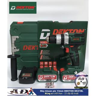 Máy khoan Dùng pin 21V Dekton DK-21BL 3 chức năng 13mm Không Chổi Than