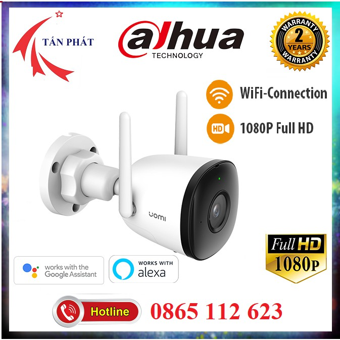 Camera IP 2M WiFi Ngoài Trời IMOU F22P Bullet 2C 2E G26EP G22P F22FP 1080P FullHD  Còi Hú, MÀU BAN ĐÊM Dahua Việt Nam