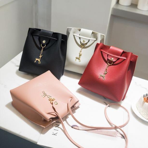 Túi xách nữ giá rẻ đeo chéo nini nhỏ gọn cao cấp da mềm chính hãng dây da hàng hiệu TXN72-c loại 1