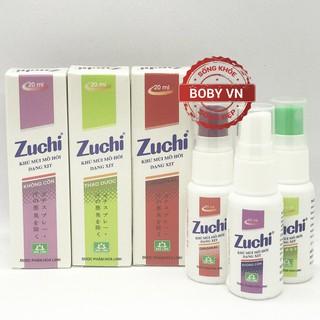 Xịt nách khử mùi hôi Zuchi 20ml (Tím + Xanh lá + Đỏ) thumbnail
