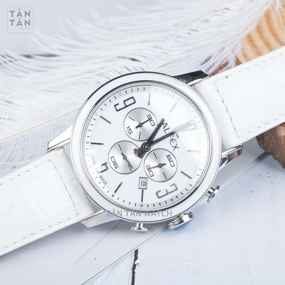 Đồng Hồ Thụy Sỹ Nữ ALFEX 5698/848 - Chronograph Dây Da Size 45mm