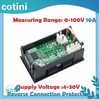 [Trong kho] ♠♠0,28 inch Bốn chữ số Vôn kế kỹ thuật số Đồng hồ đo điện áp hiện tại 0-100V 0-10A