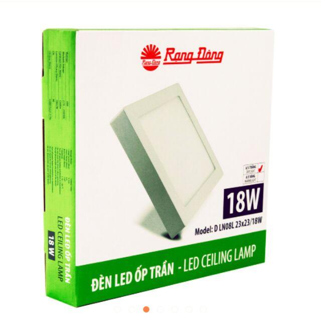 Đèn LED ốp trần Rạng Đông DLN08L 18W (23×23)cm