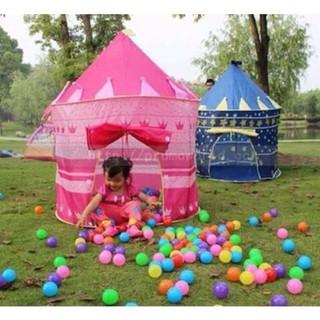 [HCM] Lều công chúa hoàng tử khung kim loại hồng/ xanh