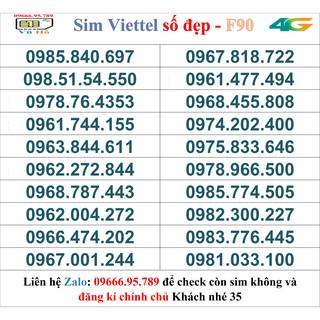 Sim Viettel đầu 09 số đẹp giá rẻ 35