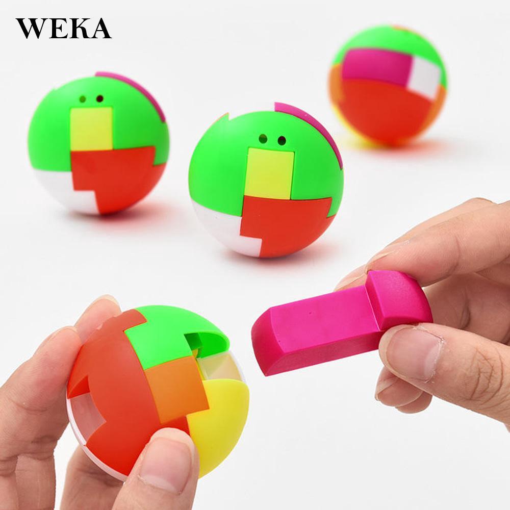 DIY Assemble Building Block Ball Kids Toy Color Recognition 3D Puzzle Elegant