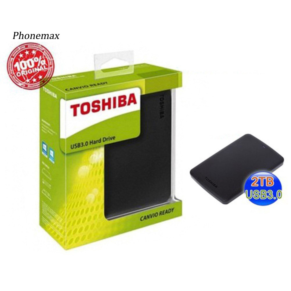 TOSHIBA 500GB/1TB/2TB High Speed USB 3.0 External Hard Disk Drive for PC Laptop