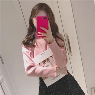 Áo Sweater Tay Dài Cổ Cao Thời Trang Xinh Xắn Cho Nữ