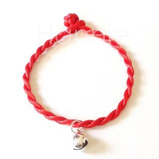 Vòng tay chỉ đỏ may mắn chuông bạc - Vòng phong thủy bình an nam nữ thumbnail
